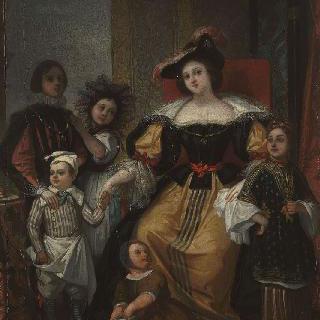 드베리아 부인과 아이들
