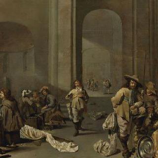 전리품 보관소 : 고대 로마 교회 안 경비대 내부