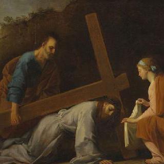 십자가에 매달린 예수
