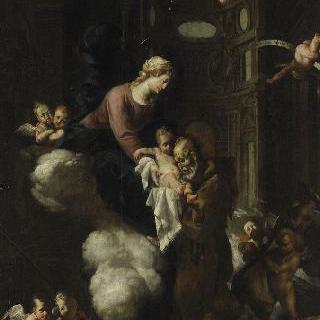 신의 축복을 받은 펠릭스 드 칸탈리스에게 나타난 성모 이미지