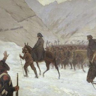 1800년 5월 20일 그랑 생 베르나르 통과