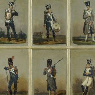 제 1 제정의 연맹 보병대의 군복과 경장비 보병대의 군복