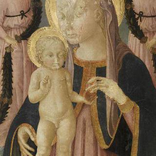 두 천사와 함께 있는 성모와 아기 예수