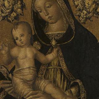 두 게루빔 천사와 함께 있는 성모와 아기 예수