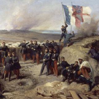 1855년 세바스토폴에서 펠리시에 장군과 참모