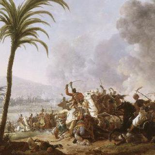 이집트 원정대의 프랑스와 이집트 군인간의 기병 전투