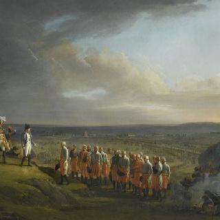 울름의 항복, 1805년 10월 20일 마크 장군의 항복을 받고 있는 나폴레옹 1세