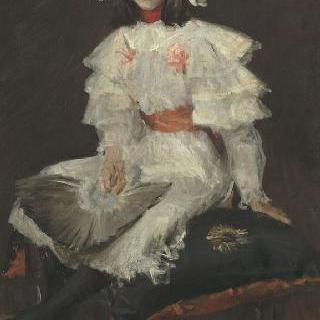 흰색 옷을 입은 소녀