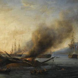 1810년 8월 24일 레위니옹 섬을 위해 영국 해군과 프랑스 해군의 해상전