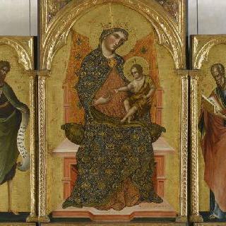 3매화 : 네 성인들에게 둘러싸인 성모와 아기 예수