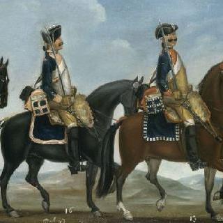 1779년 왕령에 따른 기병의 제복