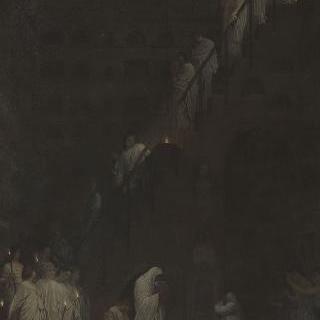 로마의 카펜 성문, 세자르 가옥의 납골당에서의 장례식