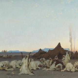 사하라 사막에서의 저녁 기도
