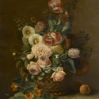 과일과 꽃이 있는 정물