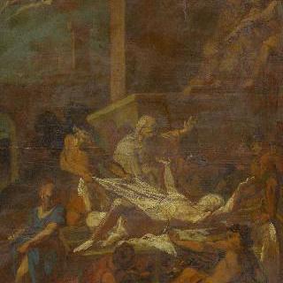 순교자 성 로렌 (초벌화)