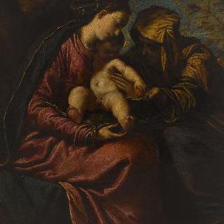 성녀 안과 성모, 아기 예수