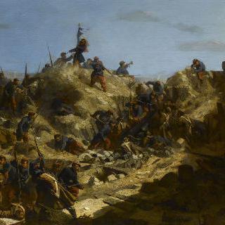 1855년 6월 7일 세바스토폴 점령시 라게 드 브랑시옹 대령의 죽음