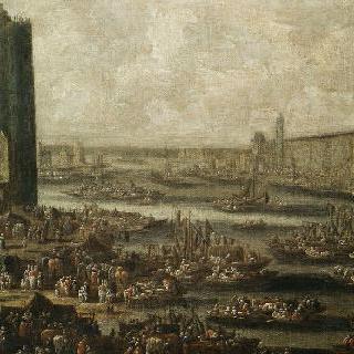 네슬탑과 루브르 (1650년경)