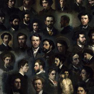 샤를 글리르 아틀리에의 43점의 초상