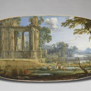 고대 유적의 폐허 풍경