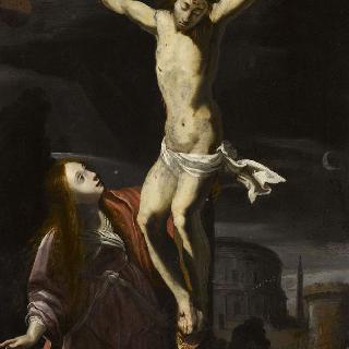 십자가에 매달린 그리스도와 막달라 마리아