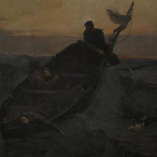 먼바다에서 조난된 배