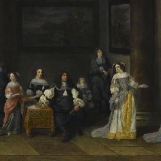 실내의 가족 초상