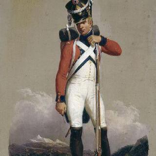 1809년 스위스 보병대의 제 2연대의 소총수