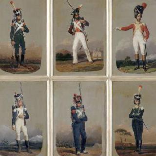 1808년 스위스 보병대의 제 1연대의 척탄병 대위