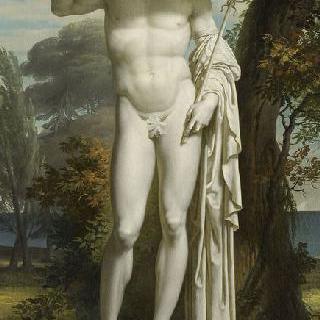 풍경 속 헤르메스의 동상