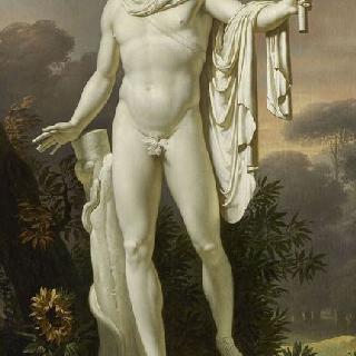 풍경을 배경으로 벨베데르의 아폴론