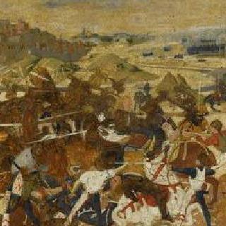 카소네 패널 : 전투 장면