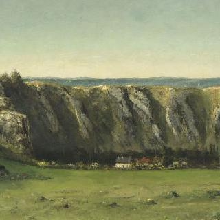 플라지 근방의 암석이 있는 풍경