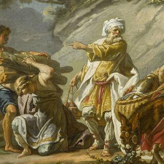 이삭을 제물로 바치기 위해 준비하는 아브라함