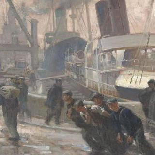 리버풀 : 새벽녁에 배를 끄는 사람들