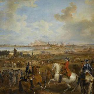 1744년 6월 4일 메냉의 탈환, 매복 공격을 명령하는 왕