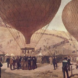 1870년 10월 7일, 몽마르트 아르망 바르베에서 투르를 향한 캄베타의 출발