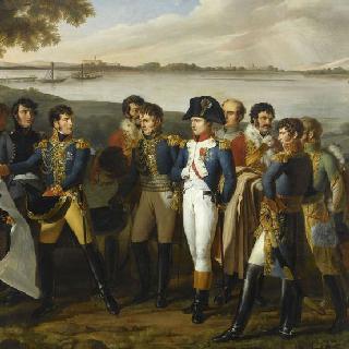 1809년 5월 19일 이베르스도르프의 다뉴브 강의 다리 건설을 지시하는 나폴레옹