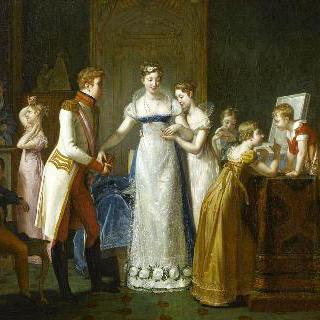 1810년 3월 13일, 가족들에게 작별을 고하는 마리 루이즈