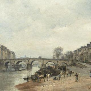 파리의 마리 다리와 셀르스탱 부두