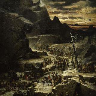 알프스 산맥을 통과하는 한니발 장군