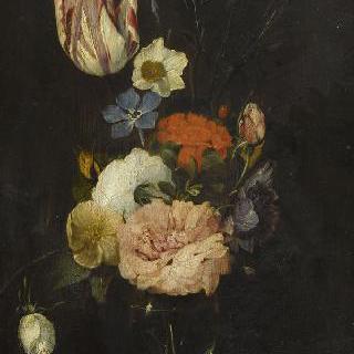 토기 화병 속 꽃
