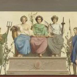 런던 박람회의 기념 단지 장식관에 전시된 복제품 프리즈