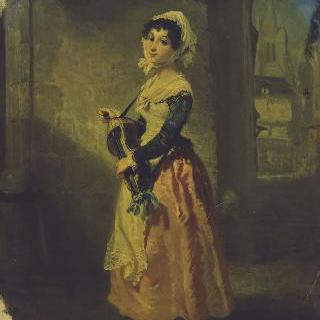 1809년 보드빌, 프랑숑 역할의 벨몽 부인의 초상