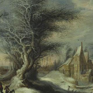 나뭇꾼의 겨울 풍경