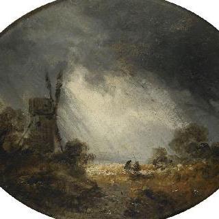 방아와 폭풍우의 몰아치는 바람