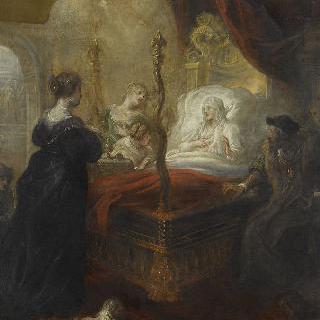 사부아 지방 루이즈에서 한 아들에게 예언하는 성 프랑수아 드 폴