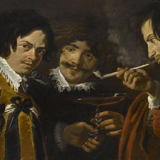 흡연하고 술 마시는 화가들의 초상