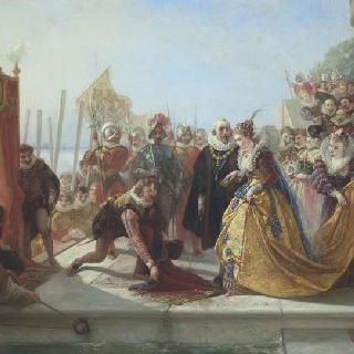 엘리자베스 영국 여왕과 아서 랠리프 경
