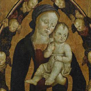 게루빔 천사들의 영광 속의 성모와 아기 예수
